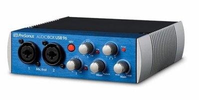 造韻樂器音響 - JU-MUSIC - Presonus 錄音介面 AudioBox USB 96
