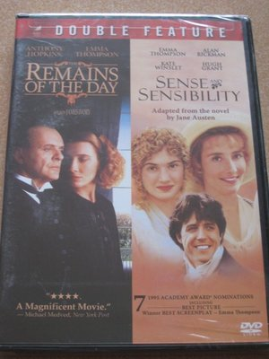 美版全新DVD~長日將盡The Remains of the Day / 理性與感性Sense & Sensibilit