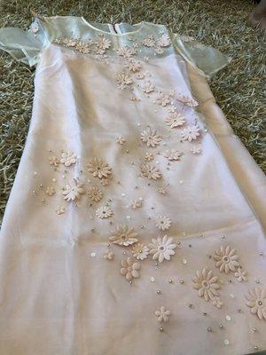 已售 Ted Baker 春天粉嫩蠶絲洋裝 全新品