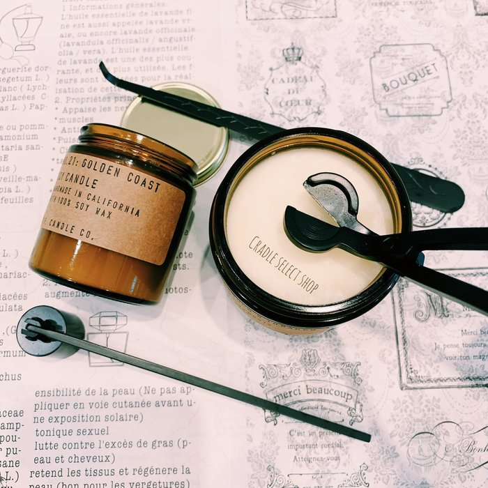香氛 ◎嚴選◎ 蠟燭 工具三件組 滅燭器 滅燭罩 剪燭器 燭蕊修剪器 燭芯鉤 玫瑰金 金銅 時尚黑