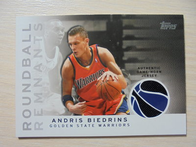2009-10 Topps Authentic Game-Worn Jersey 球衣卡 Andris Biedrins