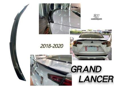 小傑車燈精品--全新 三菱 GRAND LANCER 2018 2019 18 19 20 W款 尾翼 亮黑