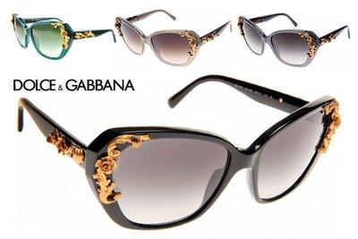 DOLCE&GABBANA D&G►巴洛克雕花Floral Hinges 太陽眼鏡 墨鏡 |100%全新真品|特價!