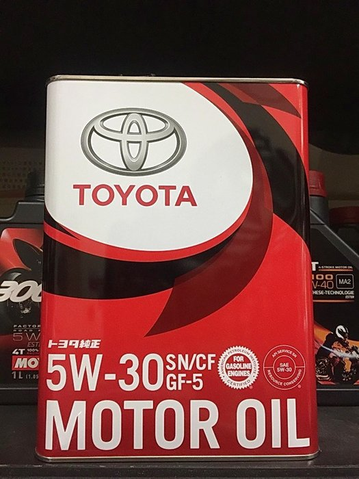可超取【高雄阿齊】豐田 TOYOTA 5w30 SN GF-5 日本原裝 原廠油 MOTOR OIL 鐵罐 4公升