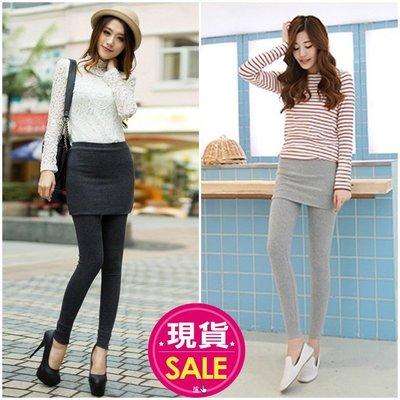 【JD Shop】時尚百搭顯瘦假兩件包臀褲裙 內搭褲  打底褲
