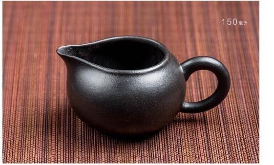 紫砂壺純手工 特價大容量原礦名家套裝茶壺茶具黑金砂公道杯