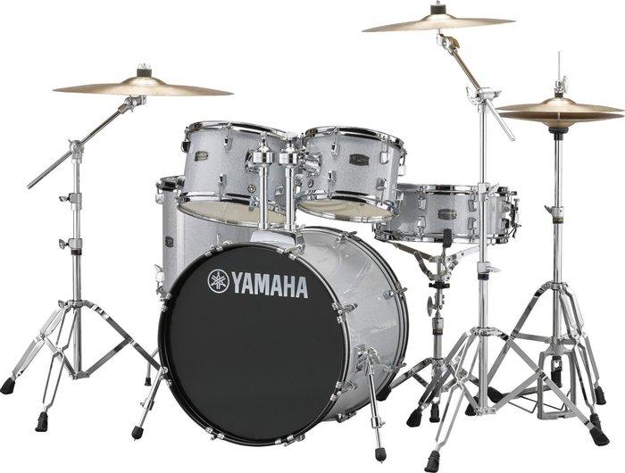 【六絃樂器】全新 Yamaha RYDEEN 銀色爵士鼓 / 加附鼓棒 鼓椅 地毯