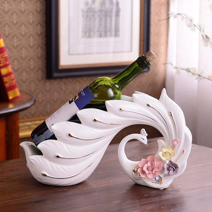 ~Linda~紅酒架擺件家用酒瓶架子歐式家居客廳酒櫃裝飾品擺設創意結婚禮物
