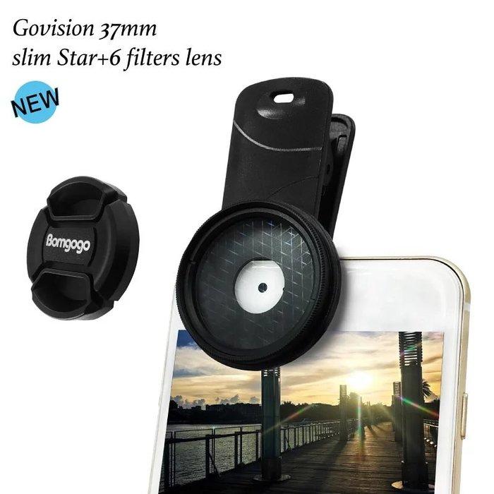 Bomgogo 超薄款六線星芒鏡 37mm 專業鏡頭 52/58mm 單眼相機也適用  台南 pqs
