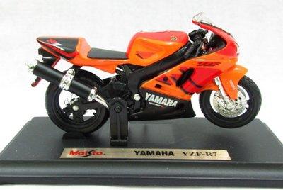 【山葉摩托車模型】Yamaha YZF-R7 橘色 重型機車模型 Maisto 美馳圖 1/18精品車模