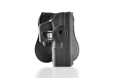 台南 武星級 MIESSA GLOCK 手槍 右手 快拔槍套 黑 ( 腰掛硬殼BB槍玩具槍手槍套短槍手槍G17G19GE