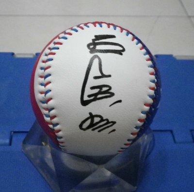 棒球天地---賣場唯一---讀賣巨人 軟銀 王貞治 簽名國旗浮雕球.字跡漂亮.破盤價