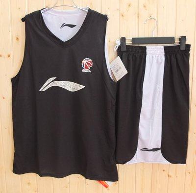 球衣李寧雙面籃球服套裝CBA對抗訓練服易建聯兩面穿球衣LINING運動服哆啦A珍