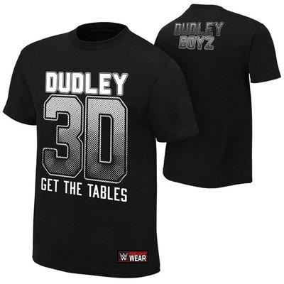 WWE摔角衣服The Dudley Boyz Get The Tables 達德利男孩 3D字母 黑色短袖T恤 買三免運
