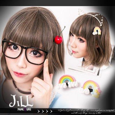 Oo吉兒oO蘿莉塔可愛童話小公主 日系可愛雙款彩虹/仿真櫻桃髮夾 【J1J6003】