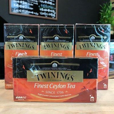 卡拉拉咖啡精品 英國 TWININGS 唐寧茶 極品錫蘭茶 2g×25入