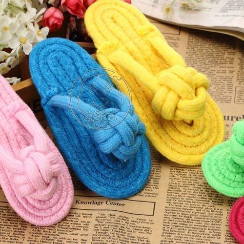 【🐱🐶培菓寵物48H出貨🐰🐹】petstar環保棉繩拖鞋寵物耐咬啃咬玩具S號15.5cm顏色隨機出貨 特價69元