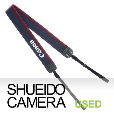 集英堂写真機【1個月保固】良品 CANON 原廠 EOS 字樣 相機背帶 藍色 / 紅色 5D3 6D 適用 14344