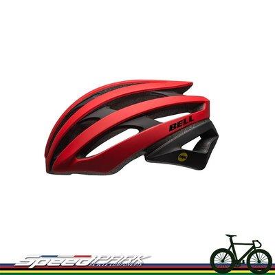 【速度公園】Bell 美國品牌 Stratus頂級自行車安全帽 公路車 登山車 單速車 安全帽 消光紅/黑-M/L