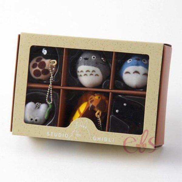 日本正版進口 宮崎駿經典動畫 龍貓 六宮格 絨毛玩偶吊飾 禮盒組《一組6入》