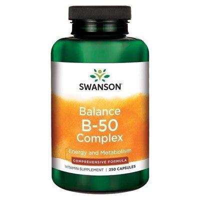 【活力小站】Swanson Balance B-50 維他命B群 250顆