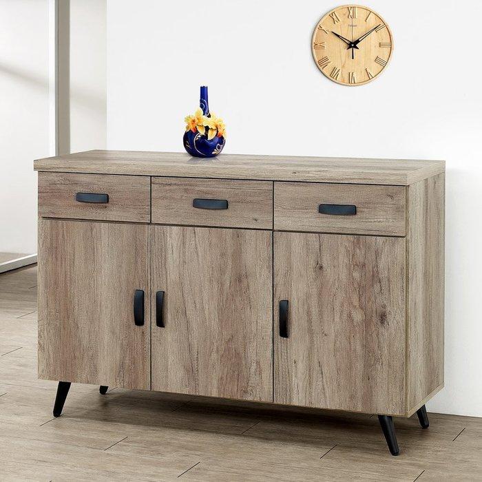 布里安4尺餐櫃(古橡木) 碗盤收納櫃 置物櫃【Yostyle】CB-1861-P17