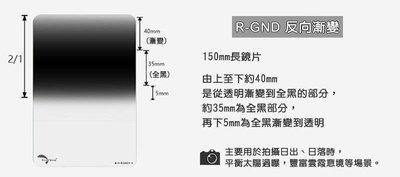 【控光後衛】Reversed GND方形反向漸層鏡ND0.6 Grad