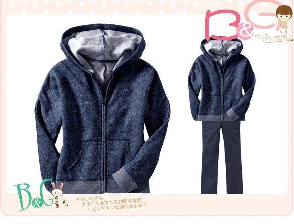 【B& G童裝】正品美國進口OLD NAVY 藍色長袖連帽外套XS,S號5-6-8yrs