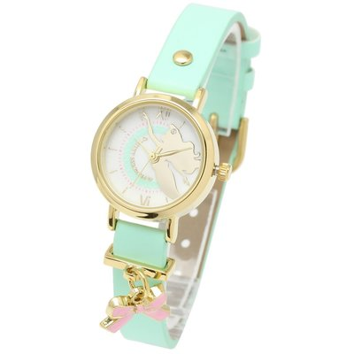 日本正版 Disney 迪士尼 小美人魚 手錶 腕錶 disney002-04-gr-1 日本代購
