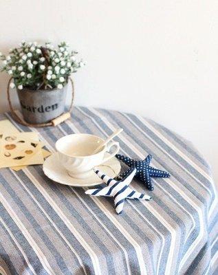 【RS雜貨舗】[100x135cm]桌巾桌布餐墊長巾桌墊隔熱墊桌布裝飾布窗台布桌布桌巾[地中海條紋]