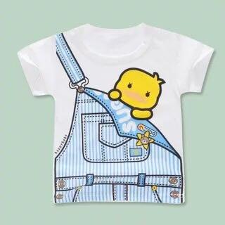 純棉 吊帶藍短袖T恤
