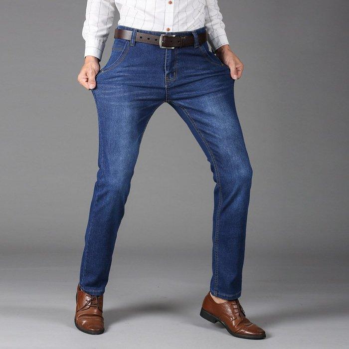 爆款男式牛仔褲子男士韓版修身直筒彈力褲青年褲男裝 Y009-8010