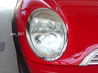 【UCC車趴】MINI ONE COOPER S 01-06 R50 R51 R52 R53 鍍鉻大燈 燈眉