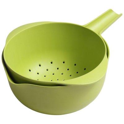 創意竹纖維雙層瀝水籃果籃洗菜籃多功能濾水籃盆水瓢廚房工具