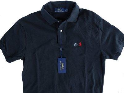 Polo Ralph Lauren RL 短袖 POLO 衫 經典網眼縮水處理 紅小馬 黑色 S【以靡專櫃正品】