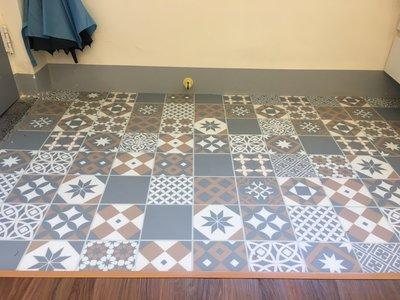 RADY FLOOR品牌~超耐磨特殊花磚地板每坪2300元起**時尚塑膠地板賴桑**