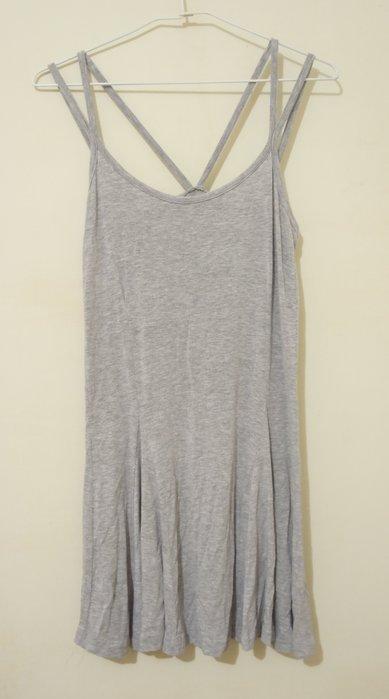 (全新B623) 韓國購入 - 灰色背心細肩帶洋裝