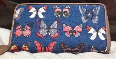 全新復古個性女錢包時尚長款拉鍊錢夾大容量多卡位手機包蝴蝶-時尚優品