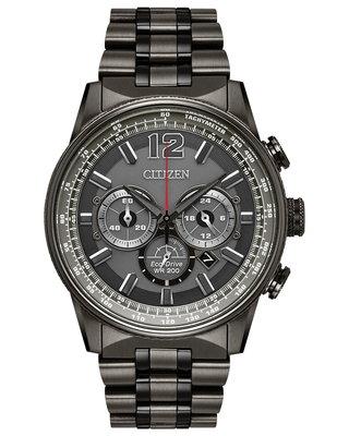 【原裝現貨 中古美品】日本 CITIZEN 星辰 NIGHTHAWK CA4377-53H 猛禽夜鷹系列 光動能計時腕錶