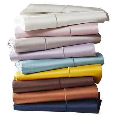 淘趣雜貨店/床單單件純棉高端100支匹馬全棉貢緞純色單人雙人1.5m1.8米三件套(型號不同價格不同)