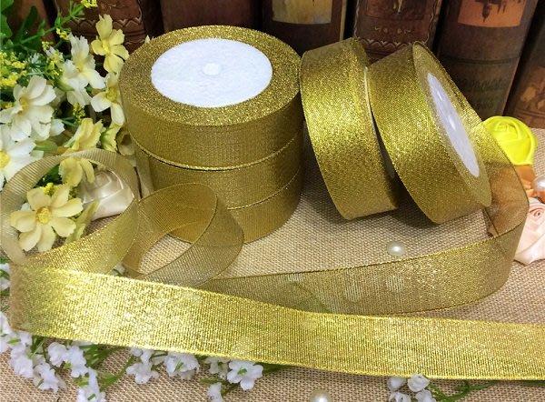 ☆創意特色專賣店☆2.5cm 金蔥銀蔥緞帶 包裝絲帶 織帶 禮品包裝 花束包裝絲帶 DIY材料