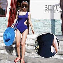 巴帝可爾BDKR*超修身性感斜肩摟空美腰連體式遮肚BIKINI溫泉泡湯春吶墾丁【KA102】時尚挖空全身連身泳裝