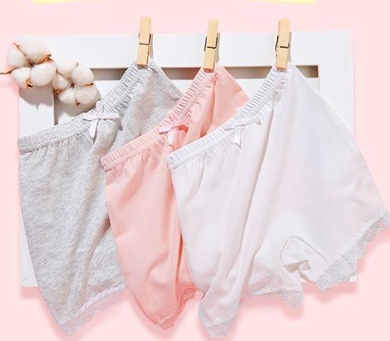 夏季女童平角褲短褲純棉防走光打底褲寶寶安全褲兒童四角女孩內褲