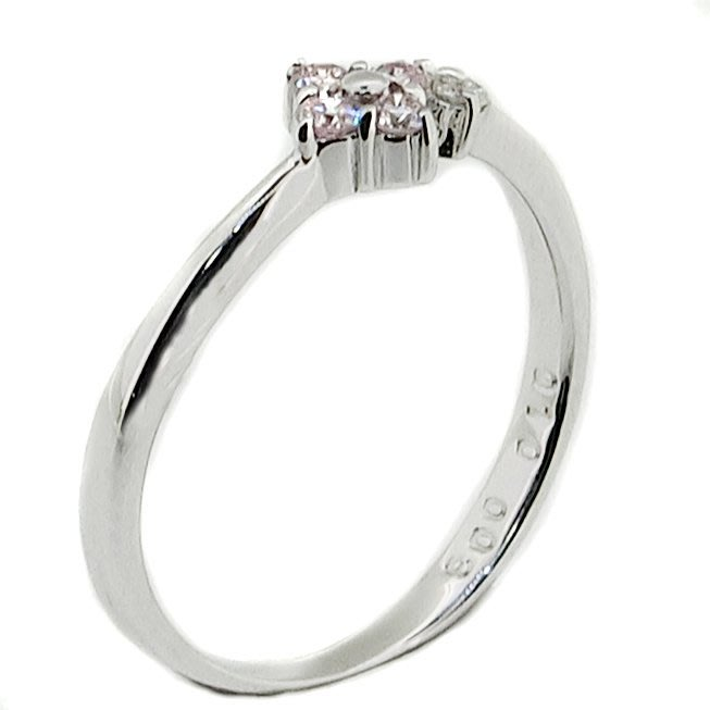 【JHT 金宏總珠寶/GIA鑽石專賣】0.10ct天然粉剛鑽石戒指/材質:18K(JB41-B11)