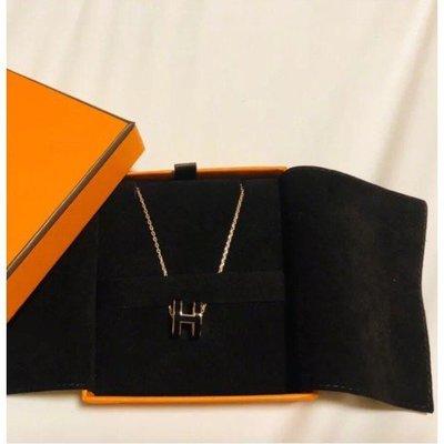 折扣價Hermes Boucles Oreilles Pop H Plaque H 耳環 黑/玫瑰金 現貨