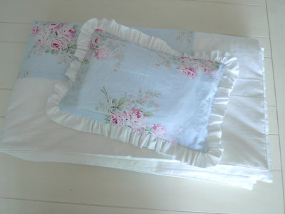 歐洲Shabby Chic 玫瑰花超柔~嬰兒棉布料(絕非淘寶仿布)