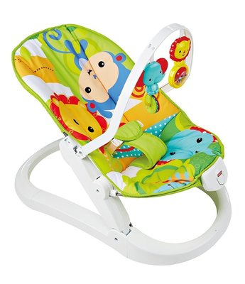 費雪牌 fisher price- 熱帶雨林多功能搖椅 Rainforest Friends Fun 'N Fold Bouncer