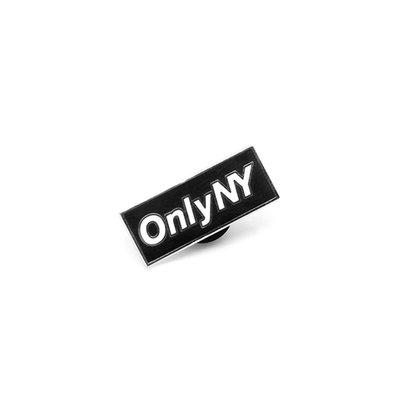 { POISON } ONLY NY BLOCK LOGO PIN-S 經典BOX LOGO 特製上色金屬別針徽章