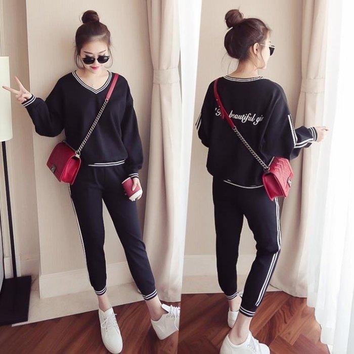 休閒運動服套裝女套頭衛衣長褲時尚兩件套XKL1265