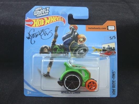 傳奇車庫-初版 歐版短卡 風火輪 WHEELIE CHAIR 特技輪椅